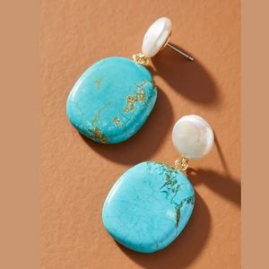 New Anthropologie Eloise Pearl Drop Earrings